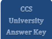 ccs university answer key