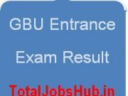 gbu entrance exam result
