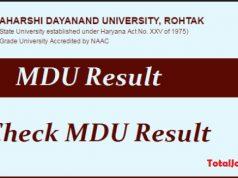 mdu rohtak result