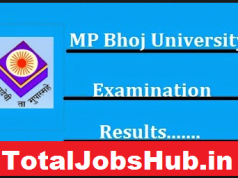 mp bhoj university result