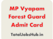 mp vyapam forest guard admit card