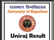 uniraj result