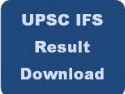 upsc ifs result