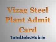 vizag steel plant admit card