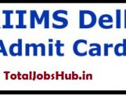 aiims delhi nursing officer admit card