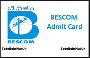 bescom admit card