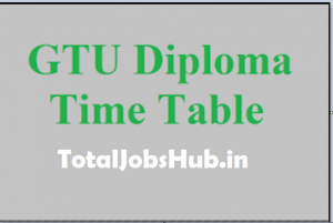 gtu diploma exam time table