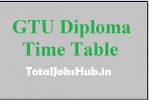 gtu diploma exam time table