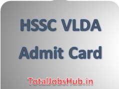 hssc vlda admit card