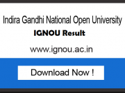 ignou exam results