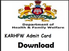 karhfw admit card