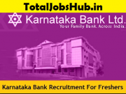 Karnataka Bank Recruitment