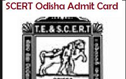 odisha scert admit card