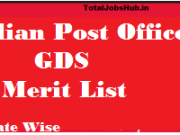 post office gds merit list 2018