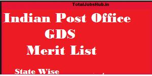 post office gds merit list 2018