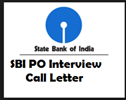 sbi po interview admit card