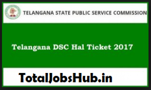 telangana dsc hall ticket