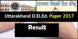 Uttarakhand Deled Result