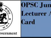 OPSC Junior Lecturer Admit Card