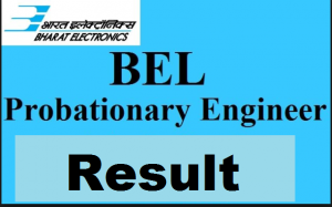 BEL Probationary Engineer Result