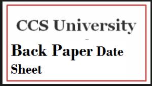 ccs university back paper date sheet