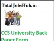 ccs university back paper form