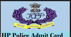 hp police admit card