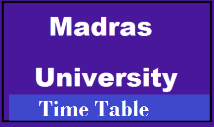 madras university time table