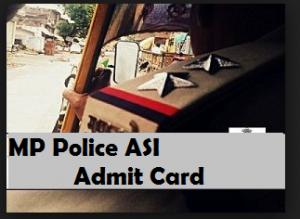 mp police asi admit card