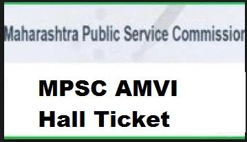 mpsc amvi hall ticket