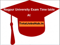 nagpur university time table