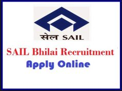 sail bhilai recruitment
