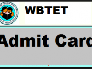 wbtet admit card