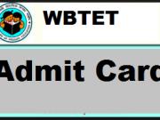wbtet admit card