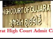 Gujarat High Court Stenographer Admit Card