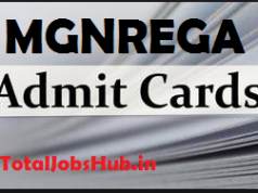 MGNREGA Admit Card