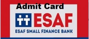 esaf bank so admit card