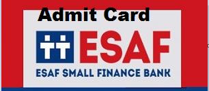 esaf bank so admit card