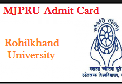 mjpru admit card