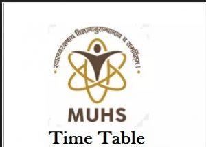 muhs nashik time table
