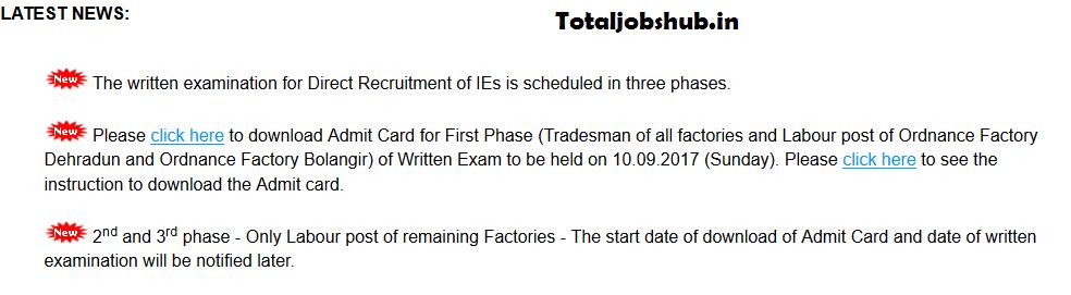 ofb semi skilled exam date
