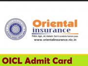 oriental insurance admit card
