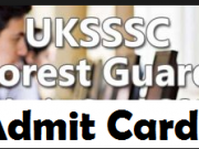 uk forest guard admit card