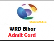 wrd bihar admit card