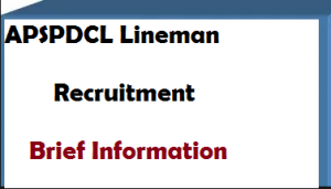 APSPDCL Lineman Recruitment