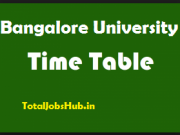 Bangalore University time table 2018