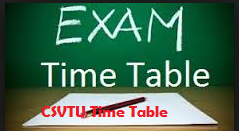 CSVTU Diploma Time table