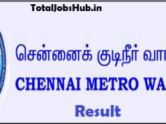 Chennai Metro Water Result