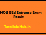 IGNOU BEd Entrance Exam Result