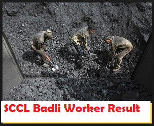 SCCL Badli Worker Result